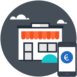 payment at a point of sale, e.g. in supermarketes